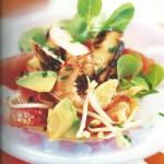 la salade de poulet mariné