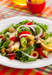 Assiettes de légumes