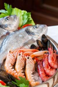 consommez des poissons et des crustacés