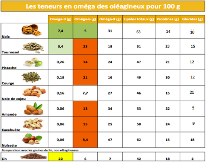 Les fruits oléagineux